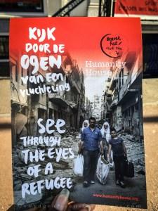 """Prospectus de l'expérience """"À travers les yeux d'un réfugié du Musée Humanity House - La Haye, Pays-Bas"""