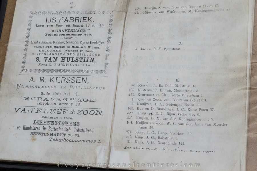 The very first phone book of The Hague - Van Kleef, Netherlands