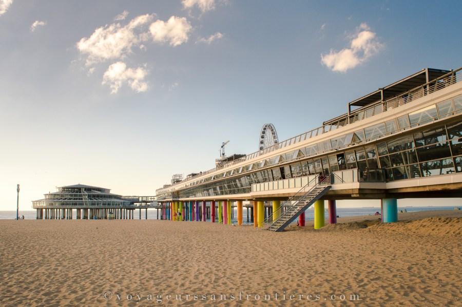 La jetée sur la plage de Scheveningen - La Haye, Pays-Bas