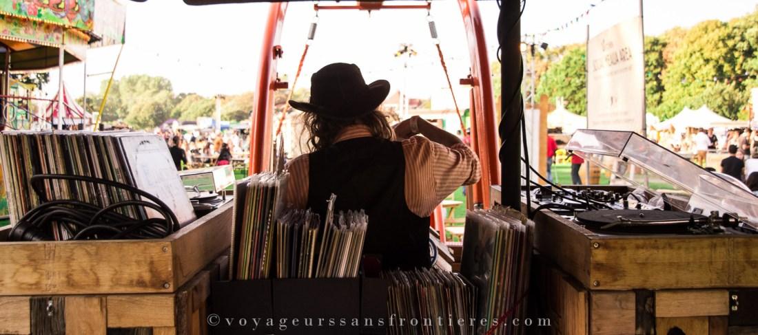 The cowboy DJ at the TREK Festival - The Hague, Netherlands