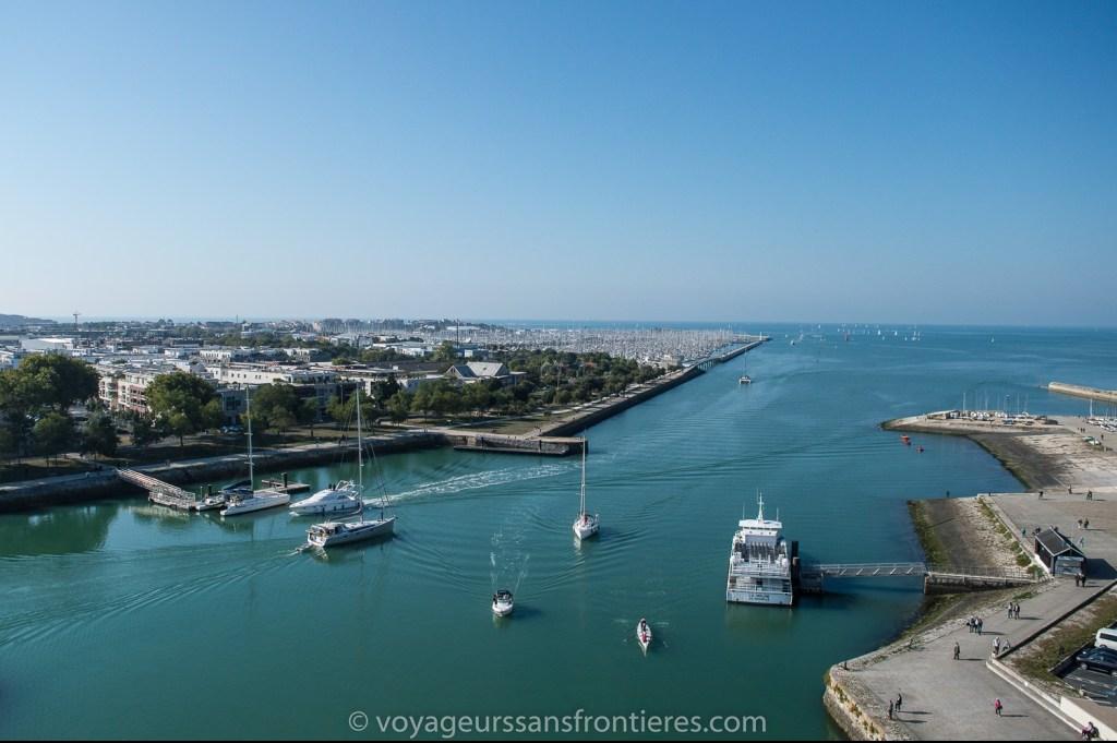 Vue sur l'Océan Atlantique depuis la Tour Saint-Nicolas - La Rochelle, France