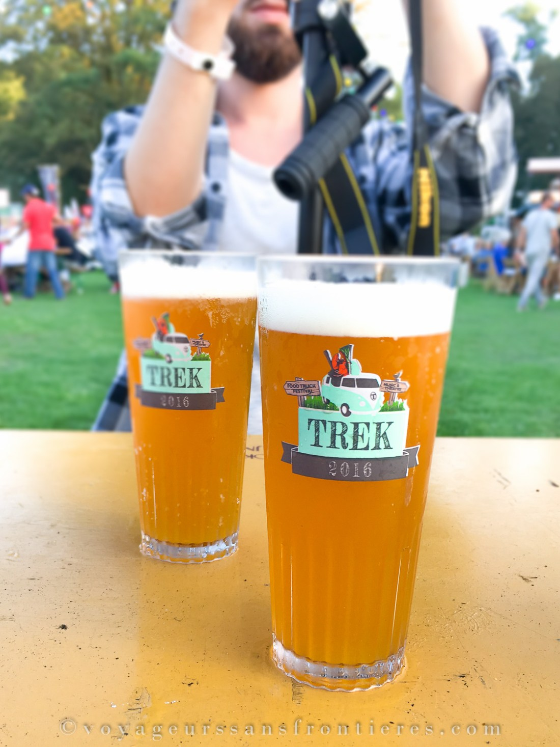 Two glasses of beer at the TREK Festival - The Hague, Netherlands