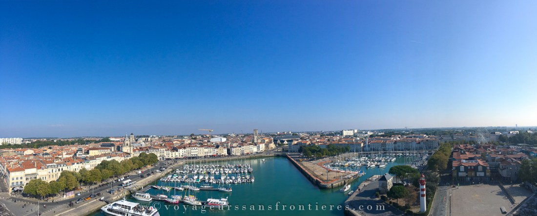 Panorama from the Tour Saint Nicolas - La Rochelle, France