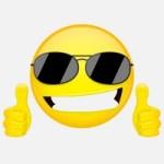 Emoji lunettes de soleil
