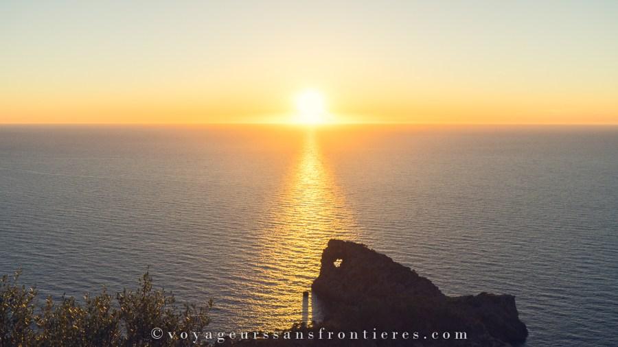 Coucher de soleil au Mirador da Fornadada - Majorque, Baléares