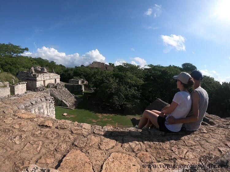 Vue sur les ruines d'Ek Balam, dont la plus grande pyramide du site, La Torre.
