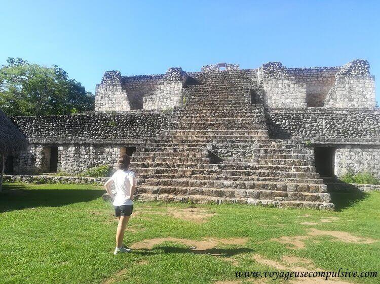 L'une des pyramides du site archéologique d'Ek Balam.