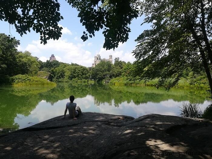 Au bord du Lac Turtle Pond à Central Park.