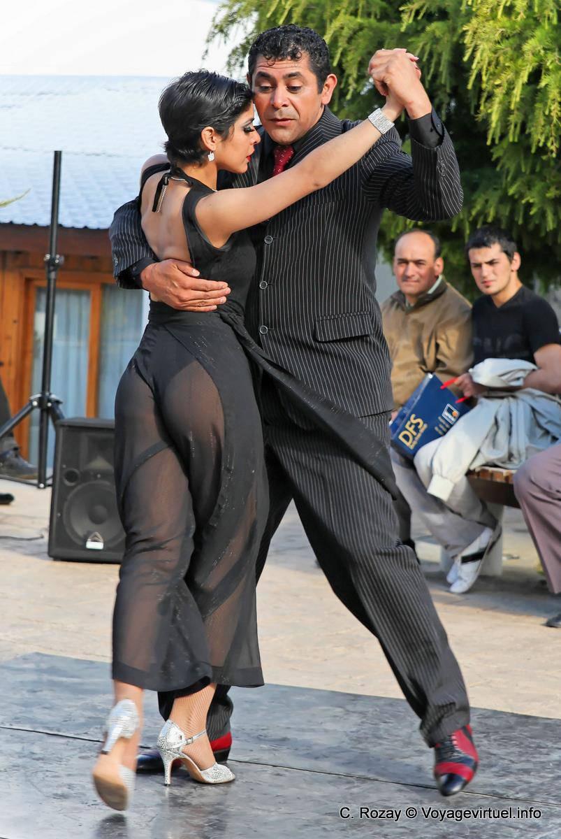 Milonga Frenzied Tango In The Street Ushuaia Argentina