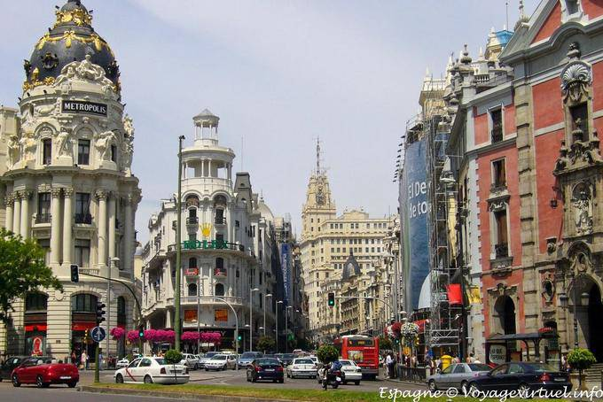 Madrid Calle Alcala Gran Via Auto Bridle Spain