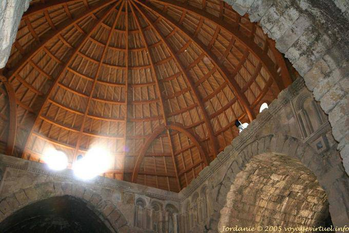 Inside The Wooden Dome Of The Umayyad Palace Amman