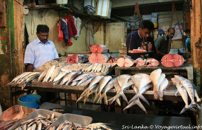 Fresh Fish On The Fishmongers Stall Nuwara Eliya Market