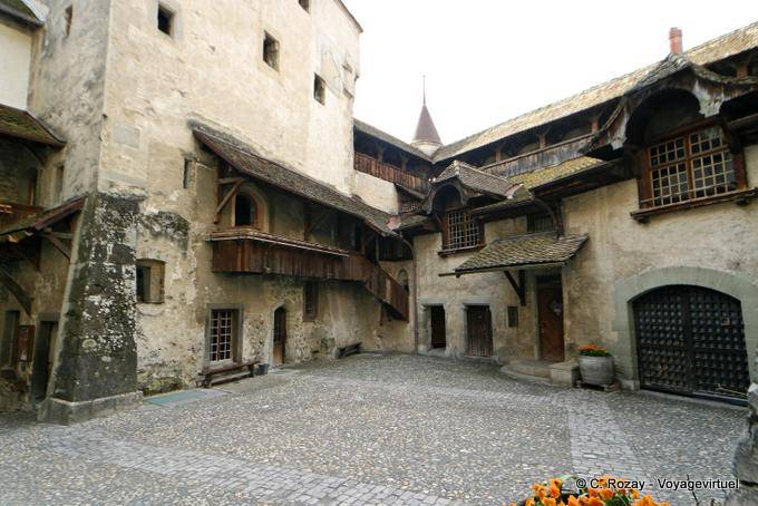 Entrance Courtyard Chillon Castle Switzerland