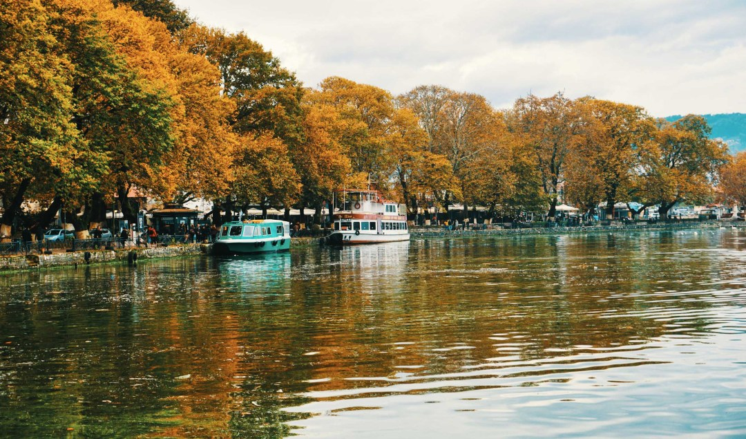 Ioannina's lakes during the fall