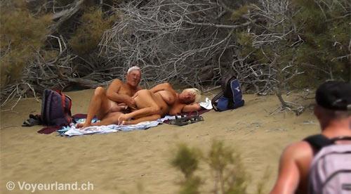 Stranger hug nude beach dares
