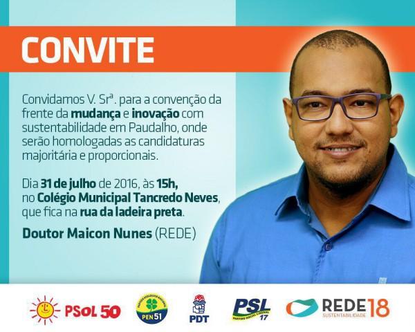 Paudalho: Dr. Maicon Nunes oficializará candidatura na tarde deste domingo (31)
