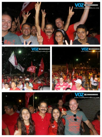 Grande caminhada fecha campanha de Joaquim Lapa em Carpina