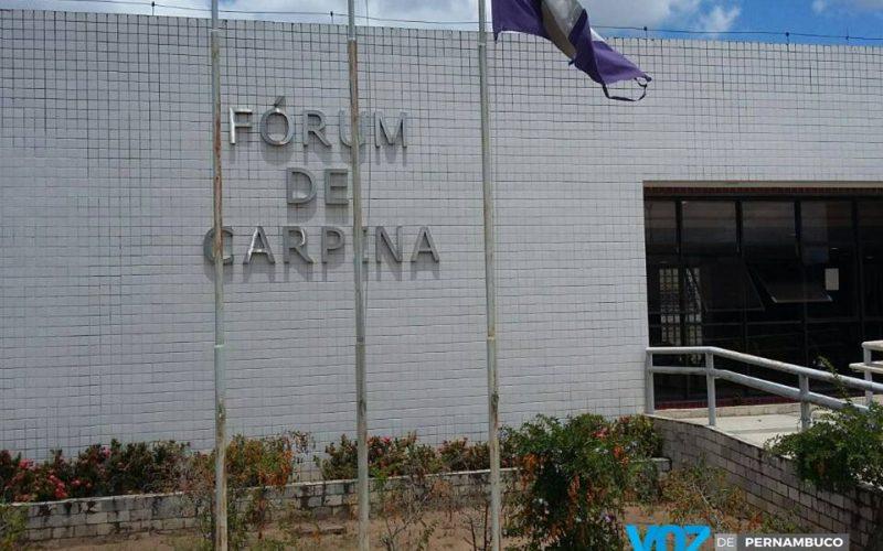 Júri popular será realizado na manhã desta terça (11) em Carpina