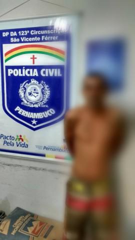 Assaltante foi preso em São Vicente Férrer