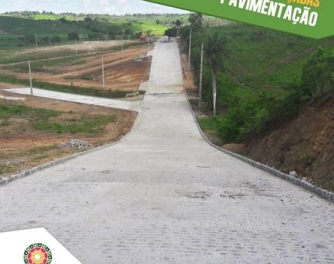 Obras de pavimentação a todo vapor no loteamento Parque dos Maracatus em Nazaré da Mata