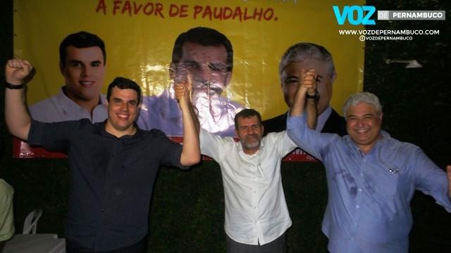 Em Paudalho, Pereira anunciou apoio a Diogo Prado e Milton Coelho