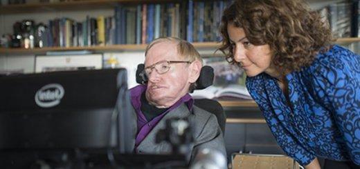 Hawking na invalidnom vozíku