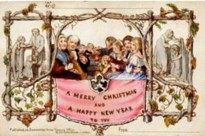 vianoce - symboly - pohľadnica