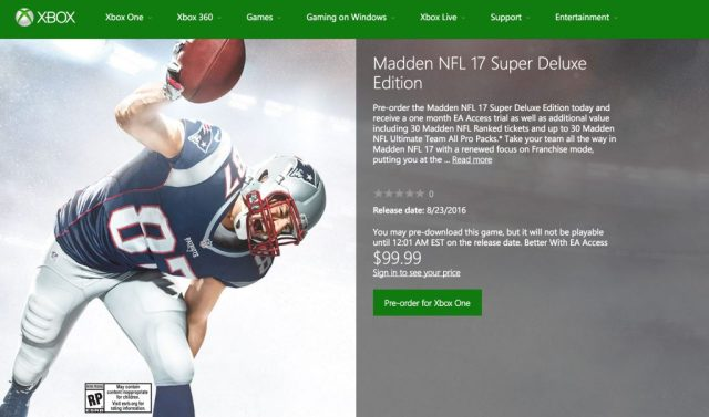 Madden 17 - Super Deluxe Edition