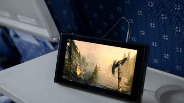 Nintendo Switch - Skyrim on a Plane
