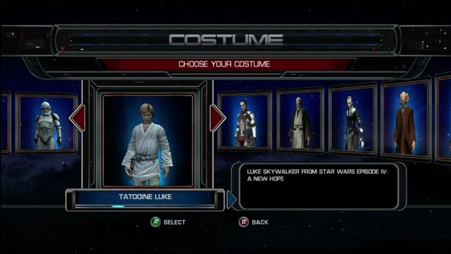 Force Unleashed Costumes