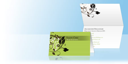 Folded Business Cards Tent Cards For Businesses Vistaprint