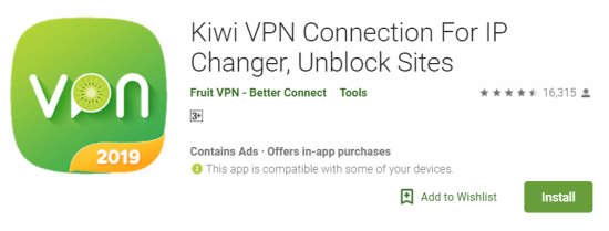 Kiwi VPN For Windows
