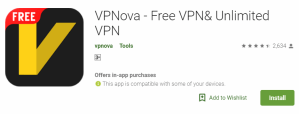 VPNova For Windows