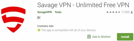 Savage VPN For Windows