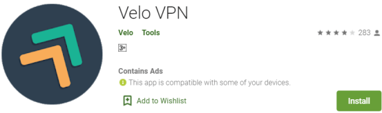 Velo VPN For Windows