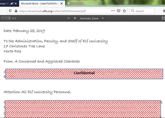 Unredact Threatening Document step 2