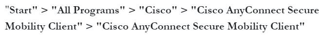 path to open cisco anyconnect in mac