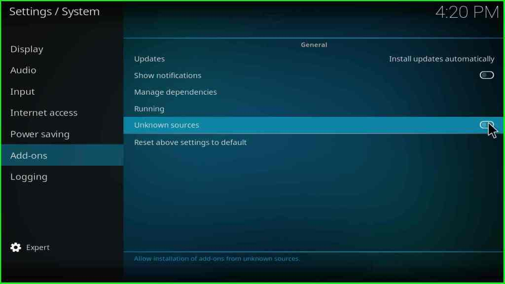 How to install Kodi addon step 4