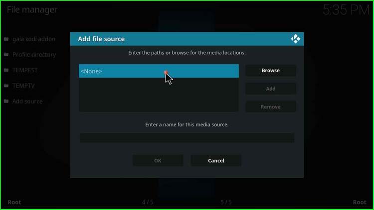 select file source