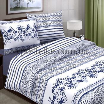 Поплин для постельного белья темно синий Афина 220 см компаньон