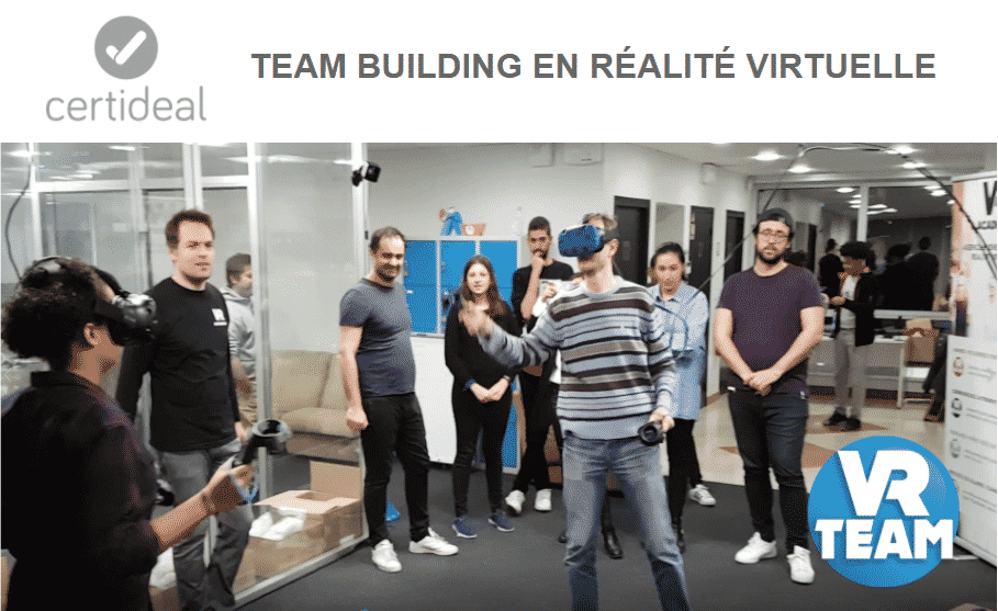 Idée activité team building réalité virtuelle chez Certideal