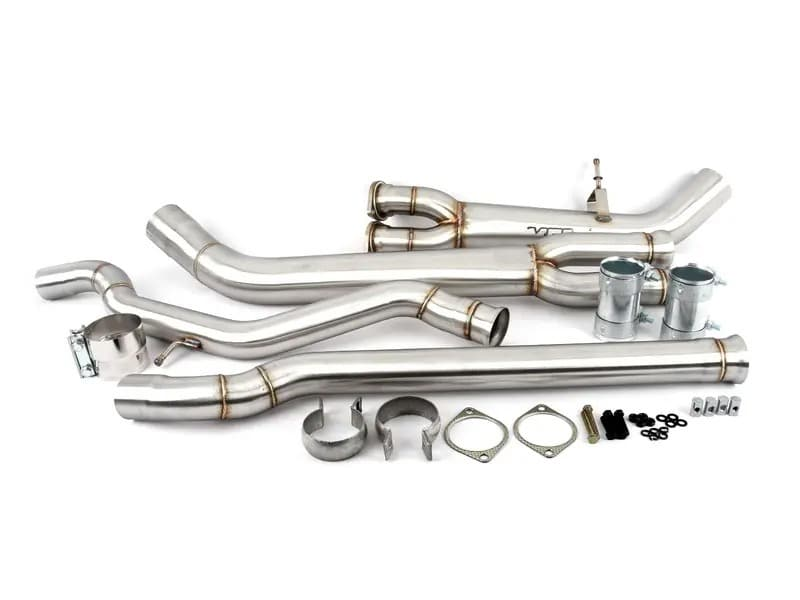vrsf high flow single mid pipe upgrade for 2015 2019 bmw m3 m4 f80 f82 s55