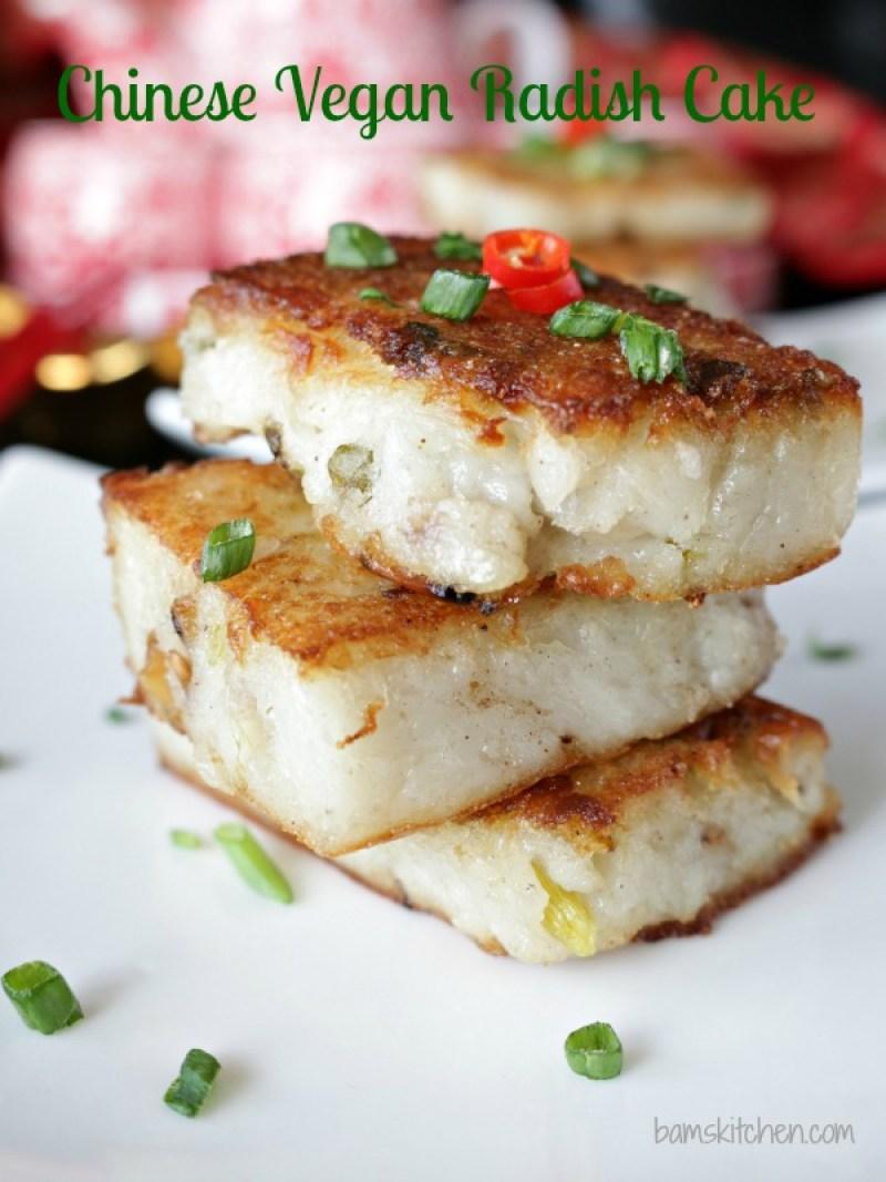 Chinese New Year Holiday With Chinese Vegan Radish Cakes