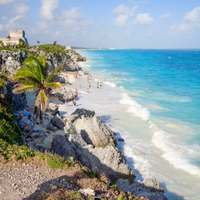 Beach at Tulum Ruins, Cozumel, Mexico -- VRAI Magazine