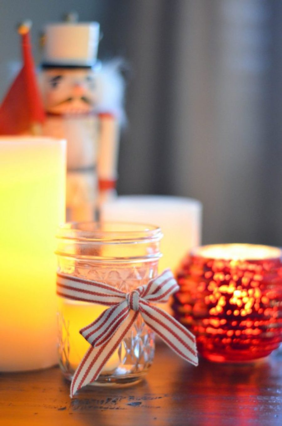 Flameless Candles to light the holiday season.