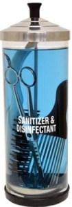 Desinfection ciseaux de coiffeur