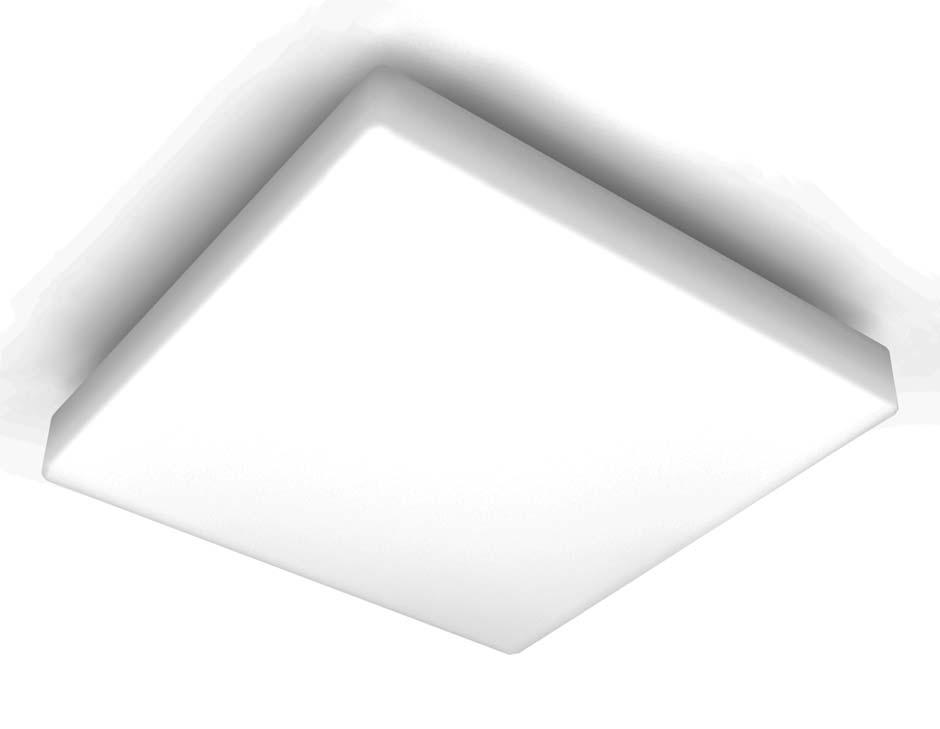 plafonnier carre blanc pour salle de bains en verre opale
