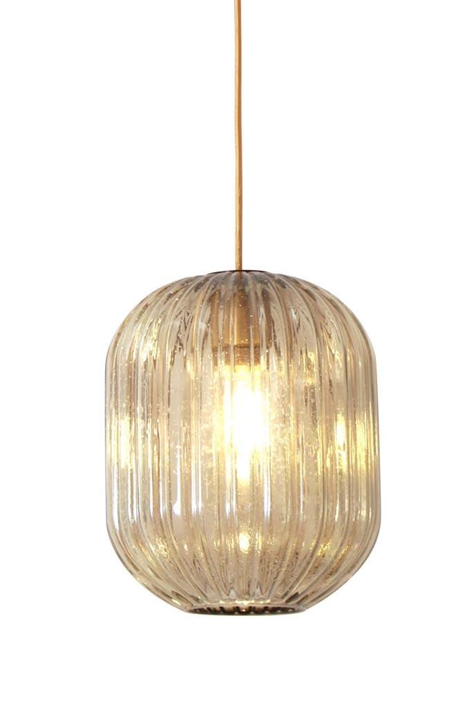 vintage pendant streaked glass lantern amber finish