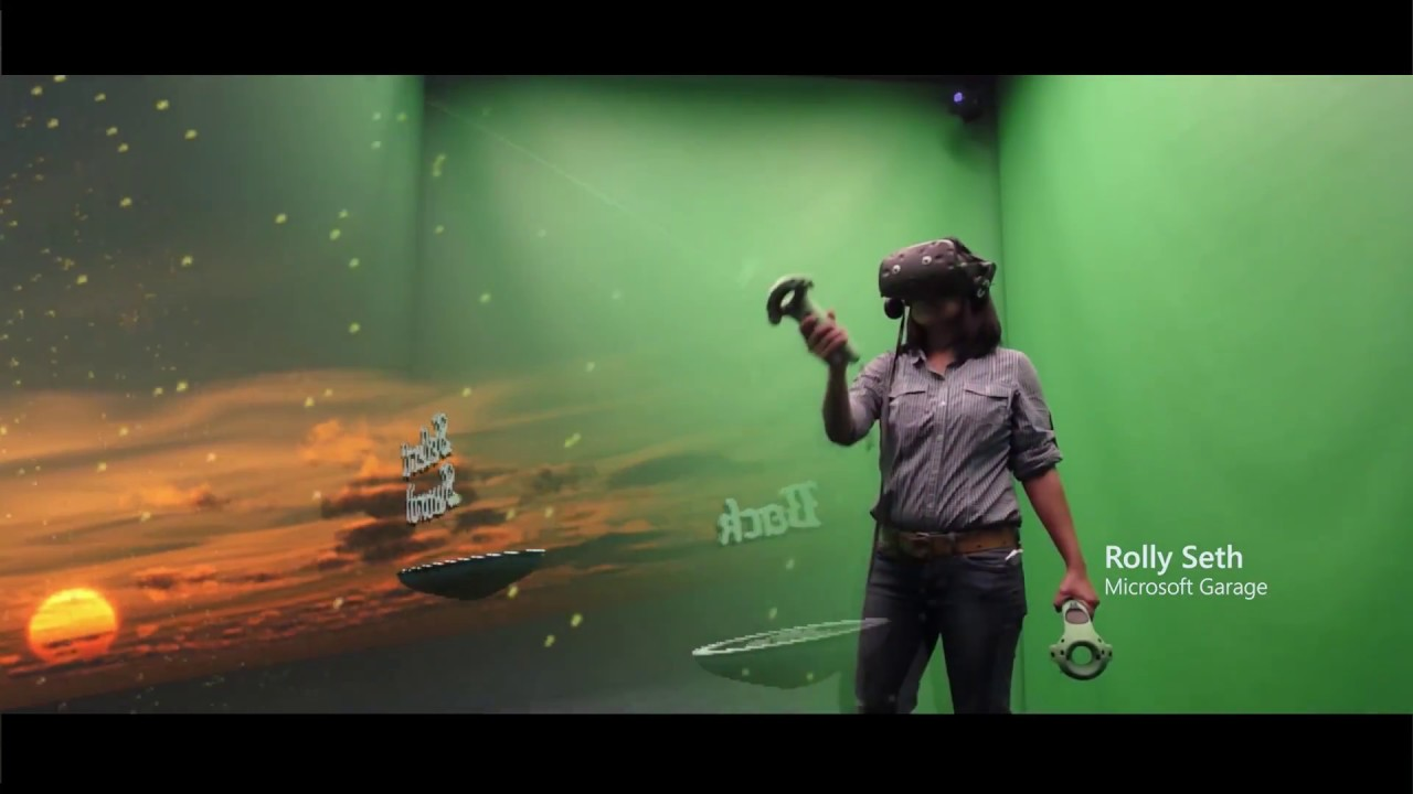 Microsoft Unveils Their Mixed Reality Garage Room VR