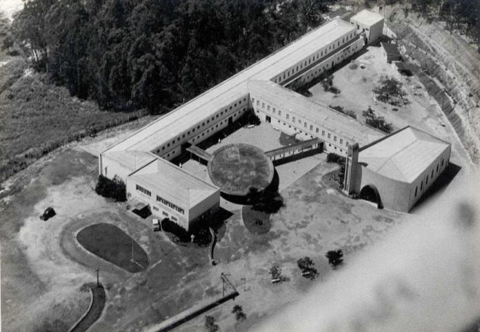 Colégio Nossa Senhora do Rosário visto de voo